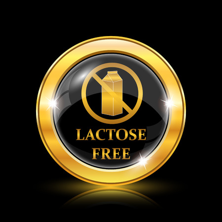 Lactose free icon. Internet button on black background. EPS10 vector Vector