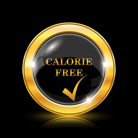 Calorie free icon. Internet button on black background. EPS10 vector Vector