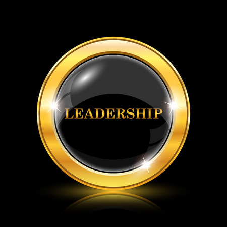superintendence: Leadership icon. Internet button on black background. EPS10 vector