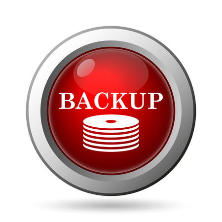 data archiving: Back-up icon. Internet button on white background.