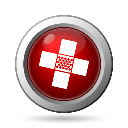 Medical patch icon. Internet button on white background. photo