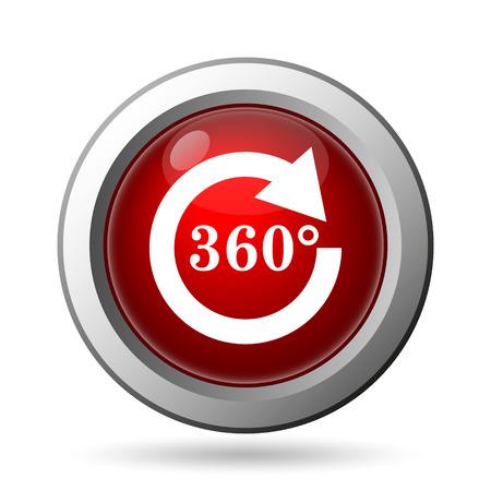 Reload 360 icon. Internet button on white background. photo