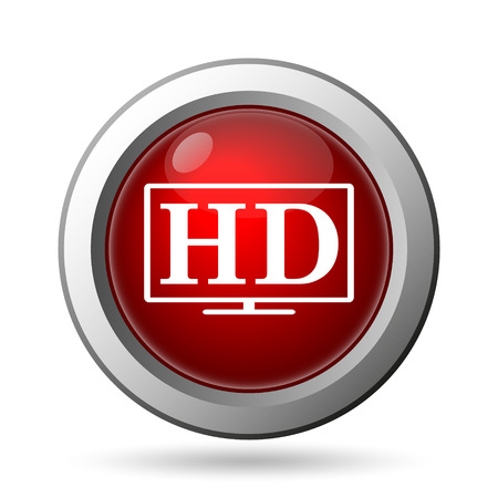 full screen: HD TV icon. Internet button on white background.