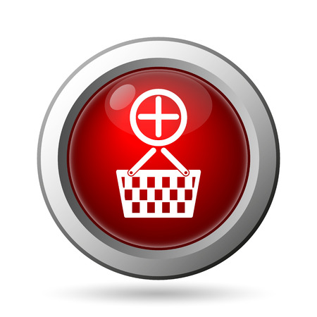 Add to basket icon. Internet button on white background. photo