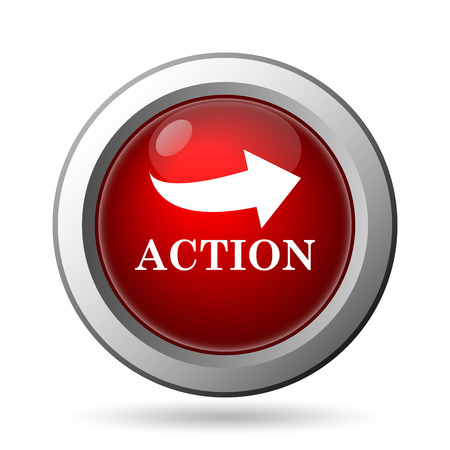 activism: Action icon. Internet button on white background.