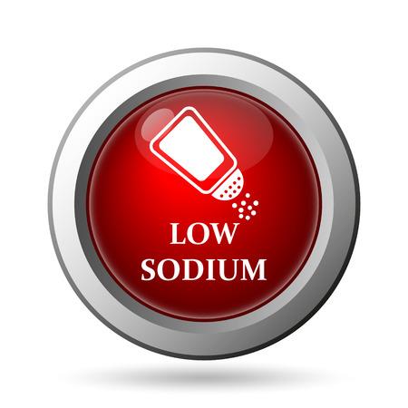 salt free: Low sodium icon. Internet button on white background.