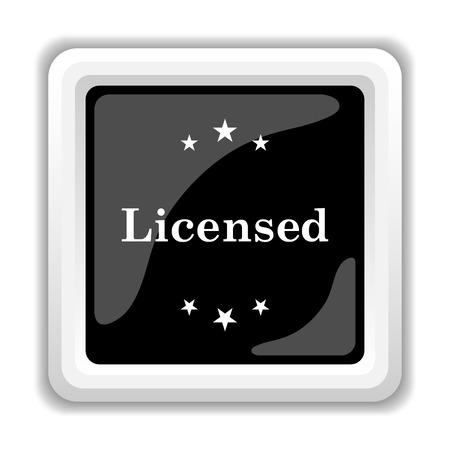 licensed: Licensed icon. Internet button on white background.