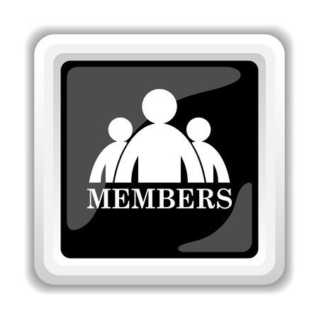 unauthorized: Members icon. Internet button on white background. Stock Photo