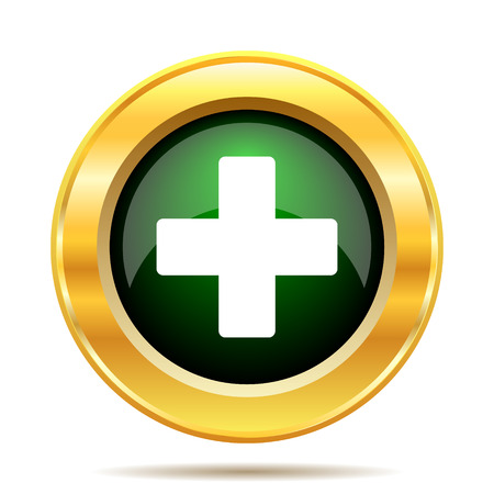 Medical cross icon. Internet button on white background. photo