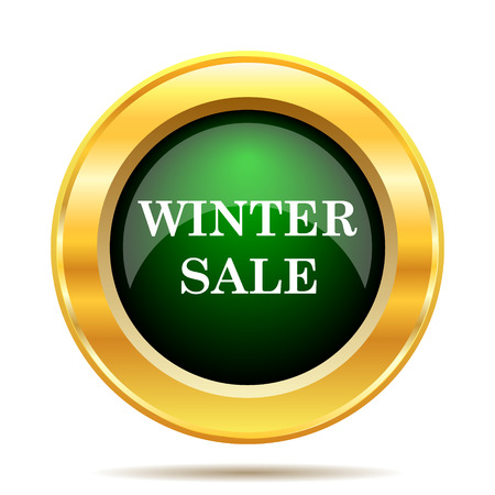 Winter sale icon. Internet button on white background. photo