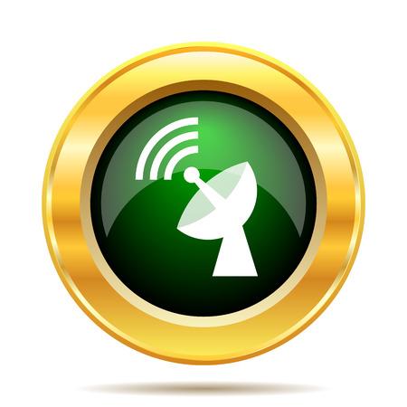 Wireless antenna icon. Internet button on white background. photo