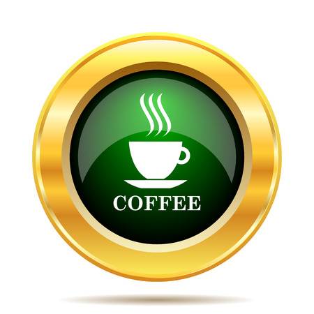 Coffee cup icon. Internet button on white background. photo