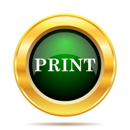 Print icon. Internet button on white background. photo