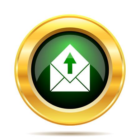 Send e-mail icon. Internet button on white background. photo