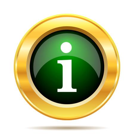 Info icon. Internet button on white background.