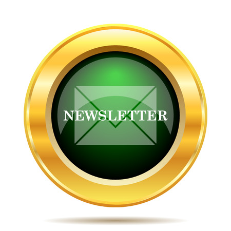 business news: Newsletter icon. Internet button on white background.
