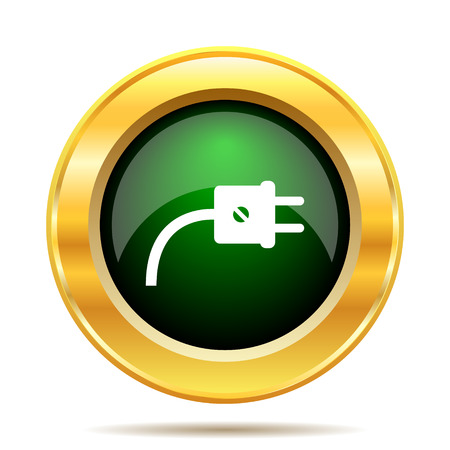 Plug icon. Internet button on white background. photo