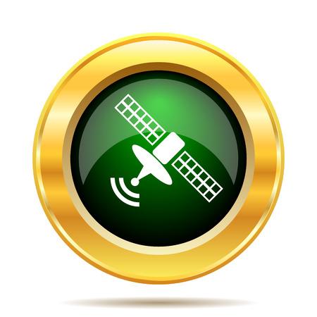 Antenna icon. Internet button on white background. photo