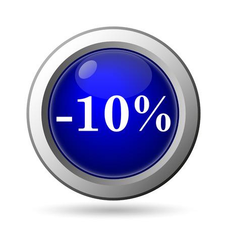 10 percent discount icon. Internet button on white background. photo