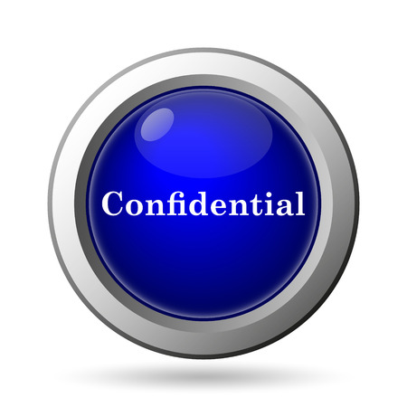 secrecy: Confidential icon. Internet button on white background.