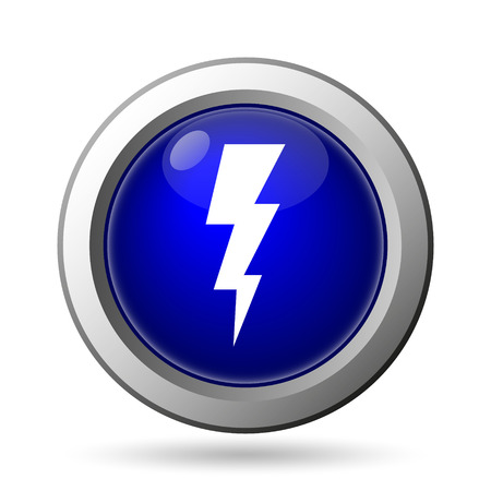 Lightning icon. Internet button on white background. photo