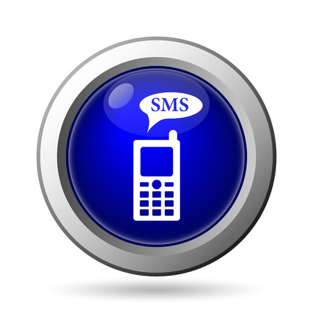SMS icon. Internet button on white background. photo