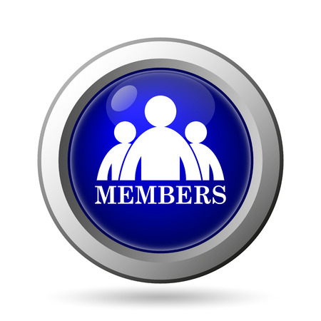 private club: Members icon. Internet button on white background. Stock Photo