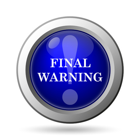 final: Final warning icon. Internet button on white background. Stock Photo