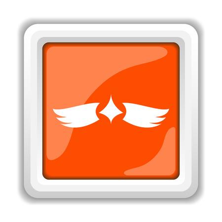 interface scheme: Wings icon. Internet button on white background. Stock Photo