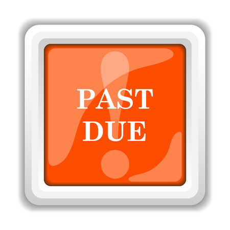 past: Past due icon. Internet button on white background.