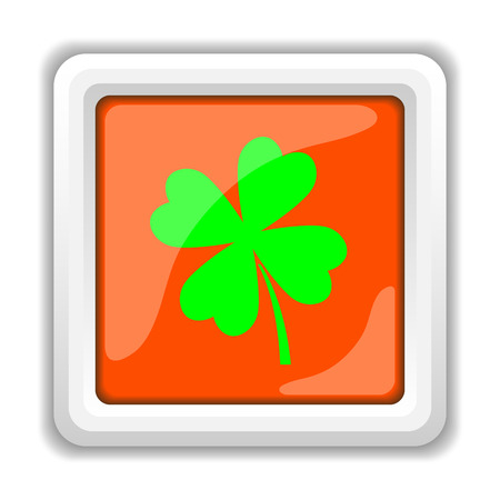 clover buttons: Clover icon. Internet button on white background.