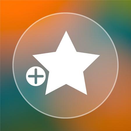 favoritos: A�adir a favoritos icono. Bot�n de internet sobre fondo de color.