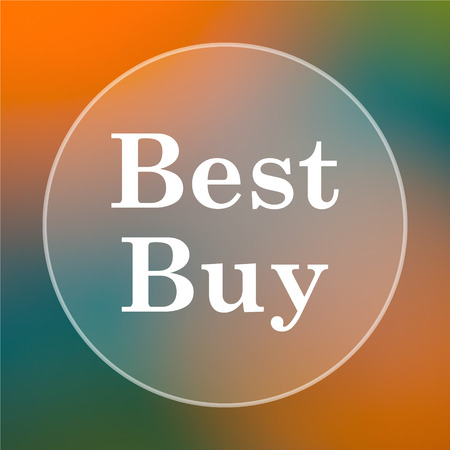 buy icon: Best buy icon. Internet button on colored  background. Stock Photo