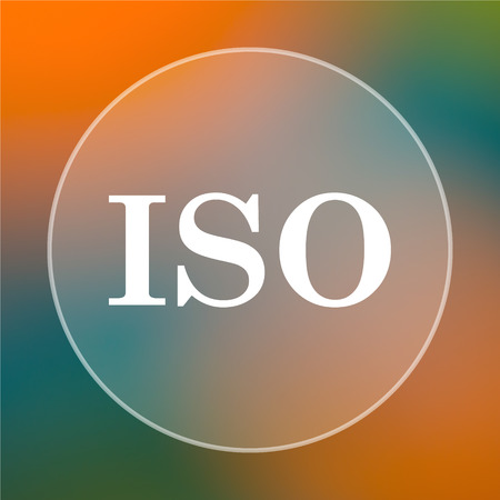 norm: ISO icon. Internet button on colored  background.