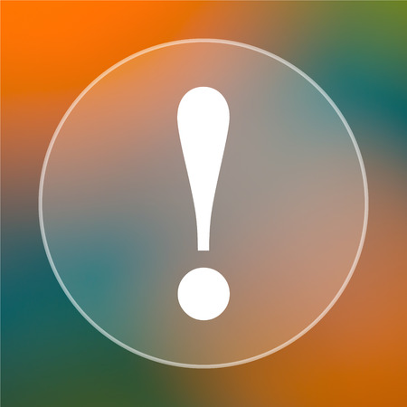 attention icon: Attention icon. Internet button on colored  background. Stock Photo