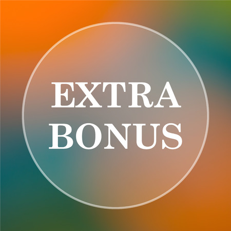 price gain: Extra bonus icon. Internet button on colored  background.