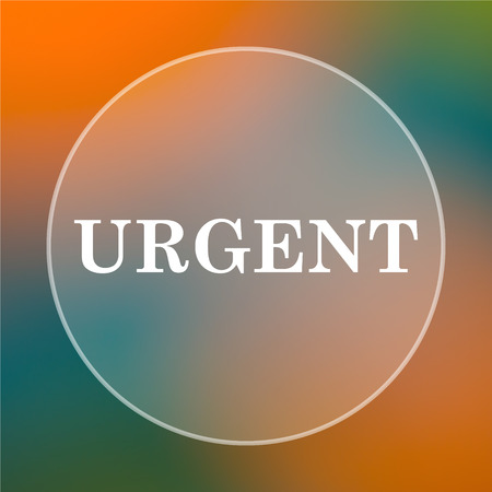 received: Urgent icon. Internet button on colored  background. Stock Photo