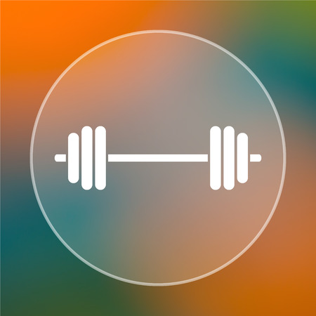 weightlifting: Weightlifting icon. Internet button on colored  background.