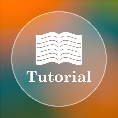 tutorial: Tutorial icon. Internet button on colored  background.
