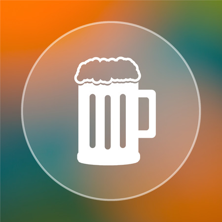 bierglas: Beer icon. Internet button on colored  background.