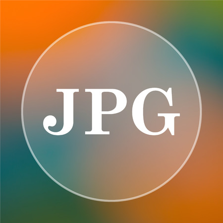 jpg: JPG icon. Internet button on colored  background.