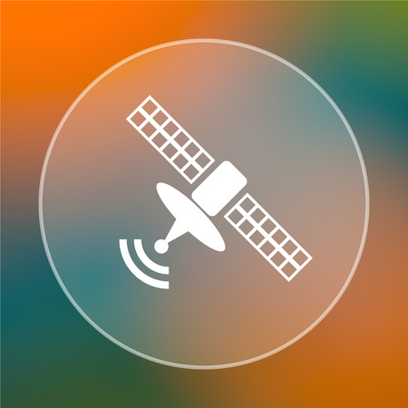 world receiver: Antenna icon. Internet button on colored  background. Stock Photo