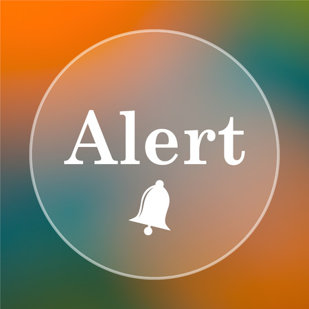peril: Alert icon. Internet button on colored  background.
