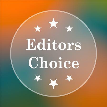 editors: Editors choice icon. Internet button on colored  background. Stock Photo