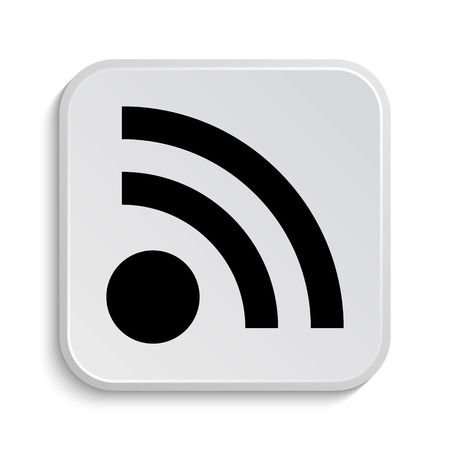 meta: Rss sign icon. Internet button on white  background.