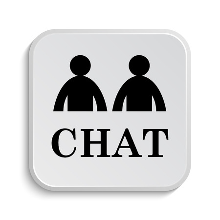 instant message: Chat icon. Internet button on white  background.