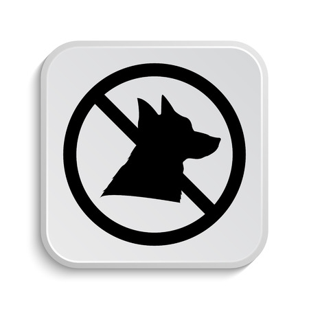 refused: Forbidden dogs icon. Internet button on white  background.