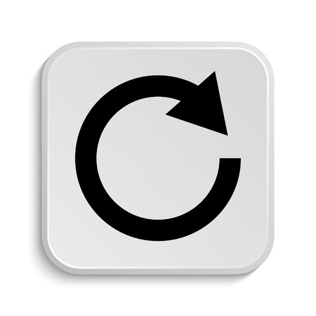 restore: Reload one arrow icon. Internet button on white  background.