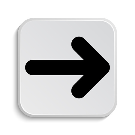arrow right icon: Icono de flecha derecha. Bot�n de internet sobre fondo blanco.