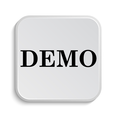 demo: Demo icon. Internet button on white  background. Stock Photo